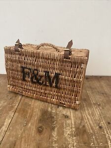 FORTNUM AND MASON F&M WICKER BASKET / HAMPER AS ACQUIRED