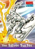 THE SILVER SURFER / Marvel Legends (Topps 2001) BASE Trading Card #33