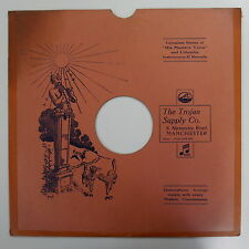 """78rpm 12"""" card gramophone record sleeve THE TROJAN SUPPLY CO , MANCHESTER"""