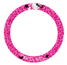 NEW AUTHENTIC SANRIO HELLO KITTY CAR STEERING WHEEL COVER HEAVY DUTY compact car