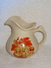 Vintage McCoy Pottery Fruit Theme Large Drink Pitcher- Made in USA