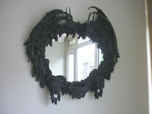 GOTHIC WALL HANGING DRAGON BLACK MIRROR - HOUSE CLEARANCE - WORTH A LOOK !!!