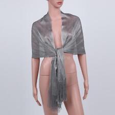 HOT Women Fishnet Fringe Sheer Glitter Scarf Shawl Wrap Wedding Shimmer Party