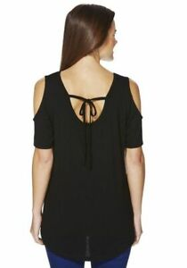 Womens Cold Shoulder Top tie fastening at the back Coral ,mustered, teal, black