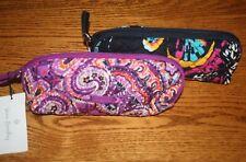 Vera Bradley Iconic Brush Pencil Cosmetic Case Bag School Pouch Medium Small