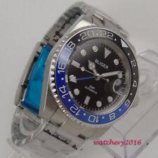 43mm BLIGER black dial gmt Saphirglas Datum Automatisch movement Uhr men's Watch