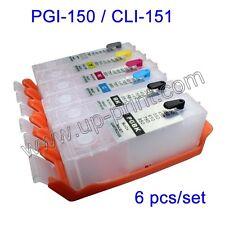 6PCS PGI-150 CLI-151 refillable cartridge for Canon MG6310 MG7110 7510 IP8710