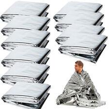 10 Pack Emergency Solar Blanket Survival Safety Insulating Mylar Heat Thermal