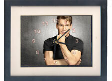 Patrick Swayze. Celebrity framed print and clock. Dirty Dancing, Ghost. Jump!.