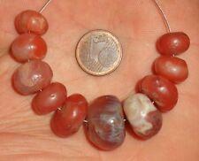 17mm Perle Ancien Afrique Troc Sahara Antique African Agate Carnelian Trade Bead