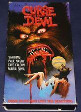 Curse of the Devil (VHS) Rare Paul Naschy Horror