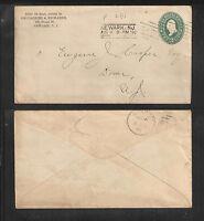 1896 GALLAGHER & RICHARDS NEWARK NJ US STAMPED ENVELOPE ADVERTISING COVER
