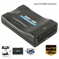 1080P SCART To HDMI Video Audio Upscale Converter Adapter for HD TV DVD SkyB Neu