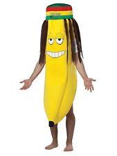 Taille unique Adulte Rasta banane tenue costume robe fantaisie hawaï fruits jamaïcain