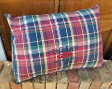"Ralph Lauren Polo Logo ""Garrison Plaid"" Wedge Reading Lumbar Pillow(S) - Nice!"