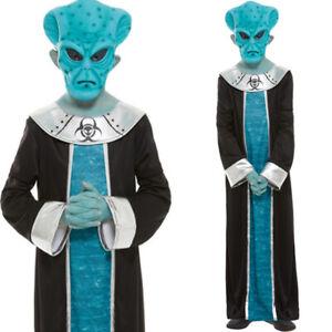 Boys Alien Costume and Mask Fancy Dress