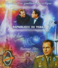 VOSTOK 2 space Herman Titov & Arkady Raikin Tchad 2013 LUX-sheet #tchad2013-25