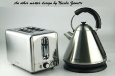 Kettle and Toaster set brushed stainless certified 2200W fast wide slot 2 slice