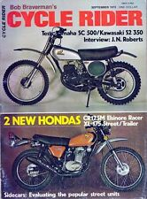 RARE - 1973 Bob Braverman's Cycle Rider Review & Test - Honda XL-175 / CR125M+