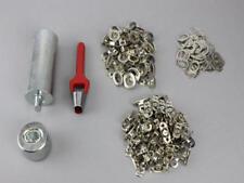 Oval Einschlagstempel Locheisen 22,5x13,5mm  + 50 Ösen Nickel + 50 Drehverschluß