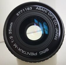 SMC Pentax-M 35mm F2 1:2 2/35 Fast Pentax K Mount Lens *Samples* Rare! Minty!