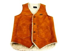 Vintage Vest Western Cowboy Country Vest Winter Vest Work Wear Brown Vest Biker