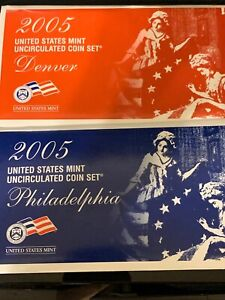2005 Mint Set Original Envelope 22 Brilliant Uncirculated US Coins Satin Finish