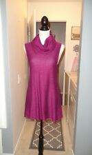 NWT Cupio Pink Sparkle Sweater Cowl Neck Tunic Size L $68 MSRP