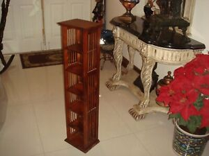 VTG One Custom Handcrafted Solid Wood Tower for CD'S,DVD,S, Blue Rays, Etc.