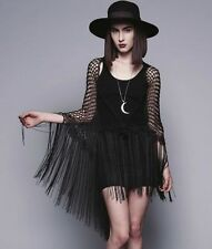 WIDOW LIP SERVICE GYPSY CROCHET SHAWL SCARF GOTHIC VICTORIAN WITCH WICCAN WICCA