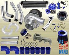 95-02 Chevy S10 Cavalier T3/T4 Turbocharger Turbo Kit Blue+Manifold+Bov+Wg+Gauge