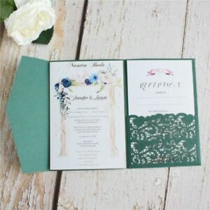Wedding Invitation Cards With Envelopes Laser Cut Scenic Invitations Party Favor