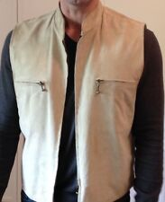 Cost $360 Mens Genuine Leather / Suede Bikers Vest Size M