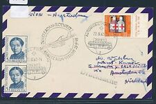 06622) KLM FF Amsterdam - Kuwait 25.9.63, Karte ab Schweiz Stpl APB