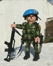 Playmobil soldado misión ONU custom militar Español policia guardia civil