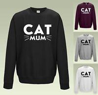 Cat Mum Sweatshirt JH030 Sweater Jumper Cute Whiskers Mom Fur Baby Crazy