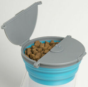 Pet Dog Travel Bowl Flexible Collapsible Lid & Feet stable BPA free + FREE TREAT