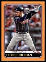 2020 Big League Base Orange #116 Freddie Freeman - Atlanta Braves