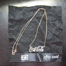 Jeffrey David Coca-Cola Sterling Silver .925  Necklace  -  New  Free Shipping