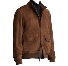 Polo Ralph Lauren Brown Suede Leather Skeet Jacket Coat Size Medium M $900