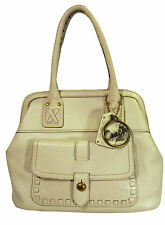 Coach 11373 Thompson Legacy Laced Top Handle Tote Winter White Pebbled Leather