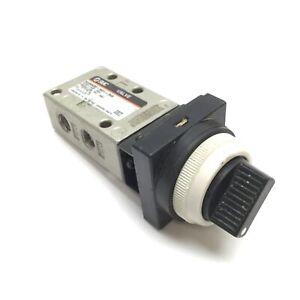 "SMC NVM430-N01-34B Mechanical Valve, 2-Position Selector, 3-Port, 1/8"" NPT"