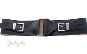 Michael Kors Italy Size XS Wide Black Leather Belt