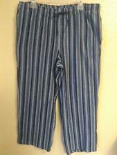 Jockey Mens Blue Striped Fleece Lounge Pants Size XL