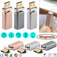 Micro USB Magnetic Adapter Charger Cable Metal Plug For Android Smart Phone US