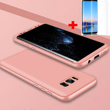 For Samsung Galaxy S8/S7 Edge Ultra Thin 360 Full Body Case Cover Tempered Glass