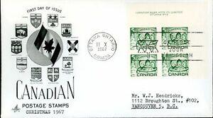 Canada FDC-PB-#477 - Children Carolling (1967) 5¢