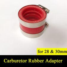 Carburetor Rubber Adapter Inlet Intake Pipe 28mm 30mm