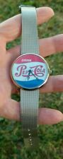 Pepsi Cola Red White & Blue Silver Color Mesh Band Watch Nice!!