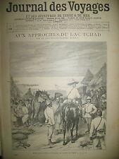 938 LAC TCHAD COLONIALE MADAGASCAR CAMPEMENT JOURNAL DES VOYAGES 1895